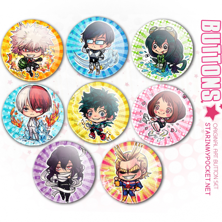 BNHA Anime Buttons