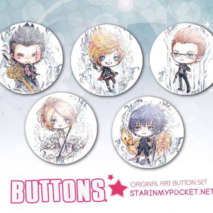 FFXV Buttons Pins