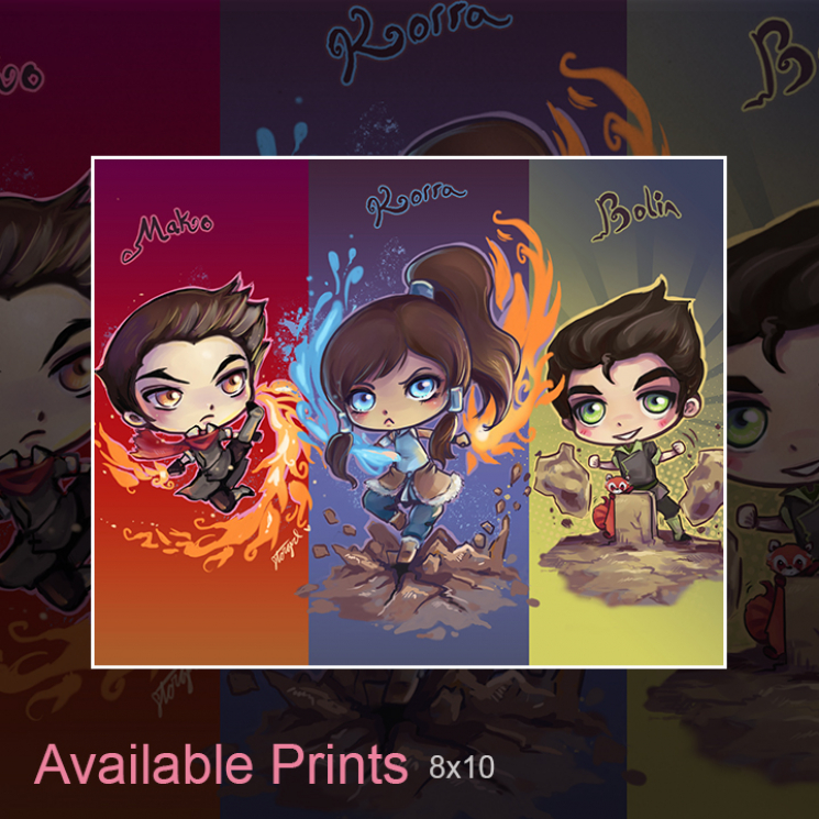 Legend of Korra Mako and Bolin Art Print
