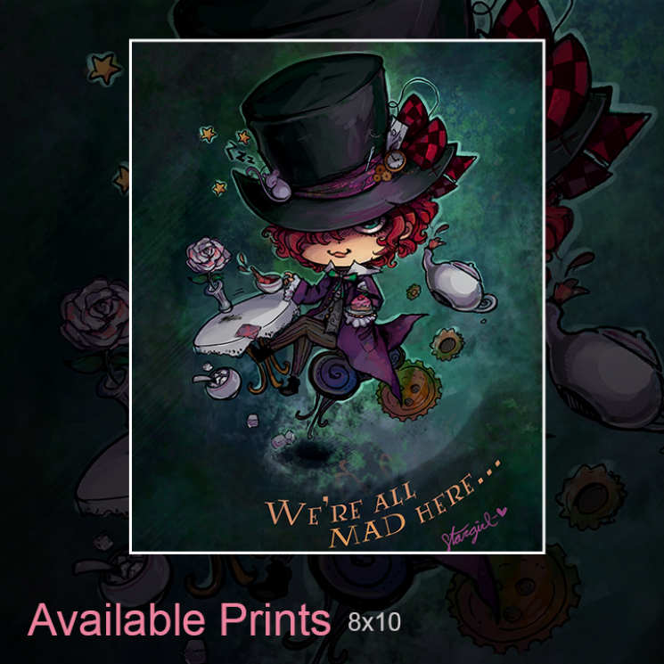 Mad Hatter Art Print
