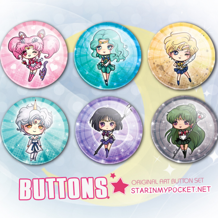 Sailor Moon Anime Buttons