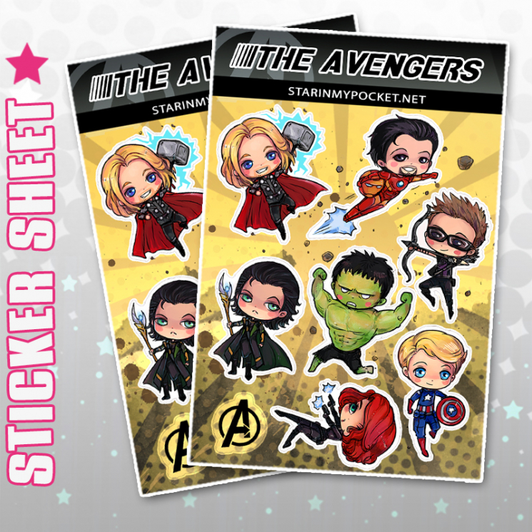 Super Hero Stickers