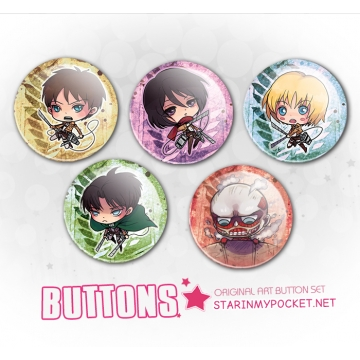 Anime Chibi Buttons