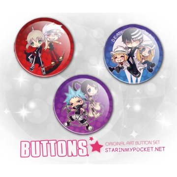 Anime Buttons Pins