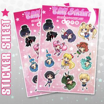 Anime Vinyl Sticker Sheet