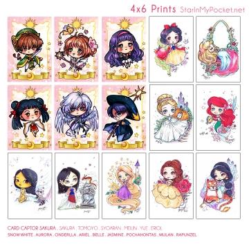 Anime Chibi Art 4x6 Prints