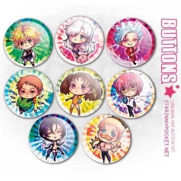 "7SINS 1.5"" Anime Buttons"