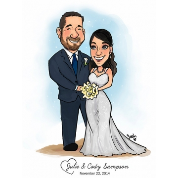 Wedding Couple Caricature
