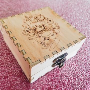 Alice #1 Birch Engraved Box