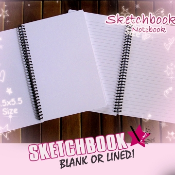 Darker Than Black Sketchbook or Notebook Journal