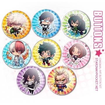 Anime Buttons Set BNHA