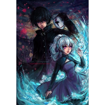 Darker Than Black Art Print