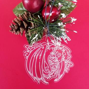 The Dragon's Dice D&D Christmas Ornament