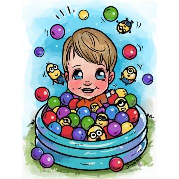 Caricature Balls & Minions Theme