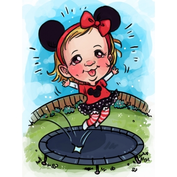 Caricature Mickey & Trampoline Theme