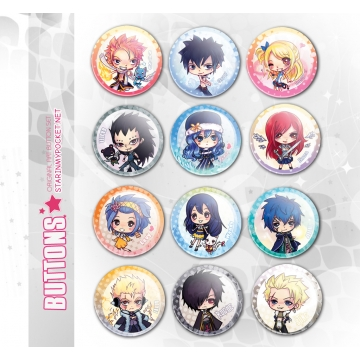"""FT Anime Mages 1.5"""" Buttons"""
