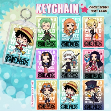 OP Pirates Anime Keychain