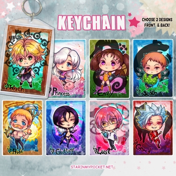 7Sins Keychain Double-Sided