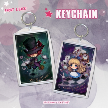 Clone of Alice and Hatter Keychain