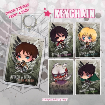 AOT Anime Keychain Double-Sided