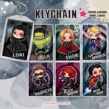 Super Heroes Anime Keychain