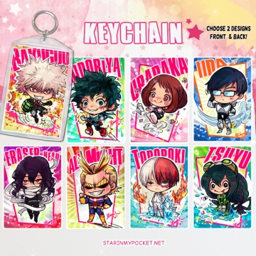 BNHA Anime Keychain Double-Sided