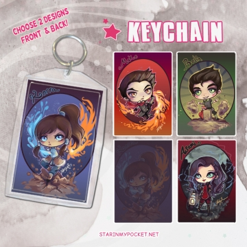 Korra Keychain Double-Sided
