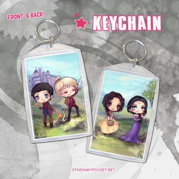Merlin Keychain Double-Sided