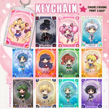 SM Magical Girl Anime Keychain