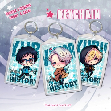 YOI Anime Keychain Double-Sided