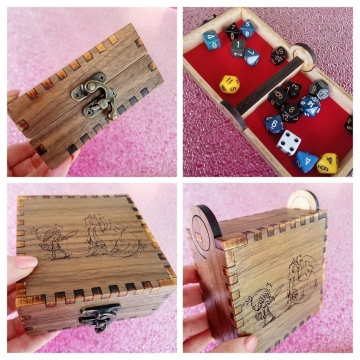 Dragon Knight #1 Walnut Engraved Box