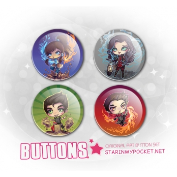 LOK Chibi Buttons Set