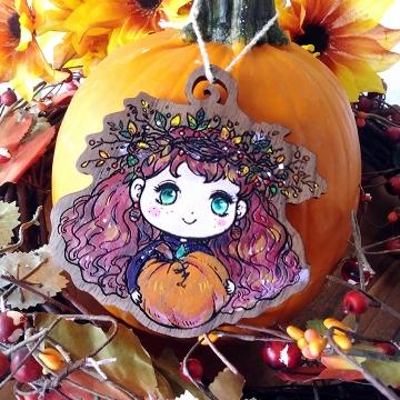 """Halloween Ornament """"Autumn Gift"""""""