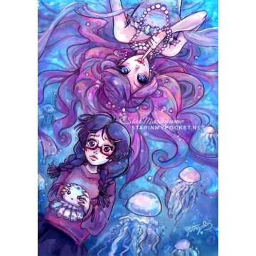 Princess Jellyfish Art Print