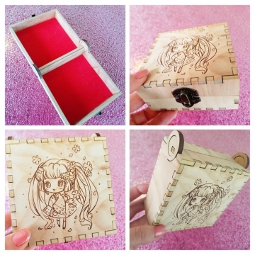 Sakura #1 Birch Engraved Box *Sold
