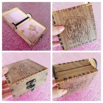 Sakura #2 Walnut Engraved Box