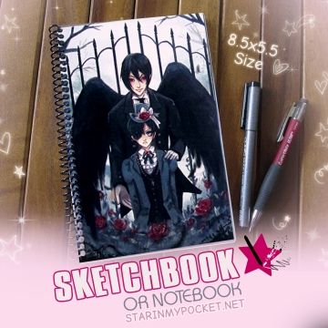 Black Butler Sketchbook or Notebook Journal