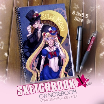 Steampunk by Moonlight Sketchbook or Notebook