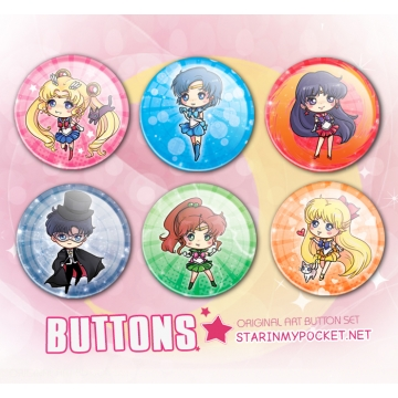 Inner Planets Anime Buttons