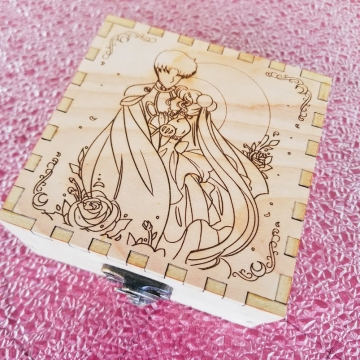 Moon Love Birch Engraved Box *Sold