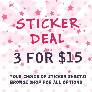 3 for $15 STICKER DEAL