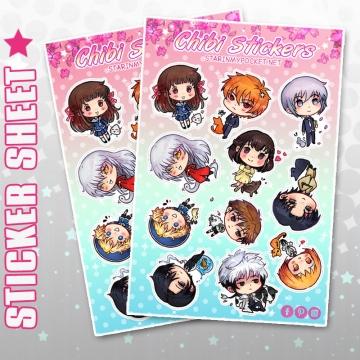 Anime Stickers Kawaii Zodiac