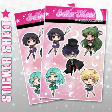Magical Girl Anime Stickers SM