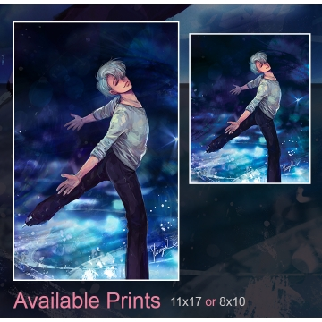 Victor on Ice Art Print